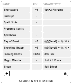 5E OGL Sheet Attacks And Spellcasting.png
